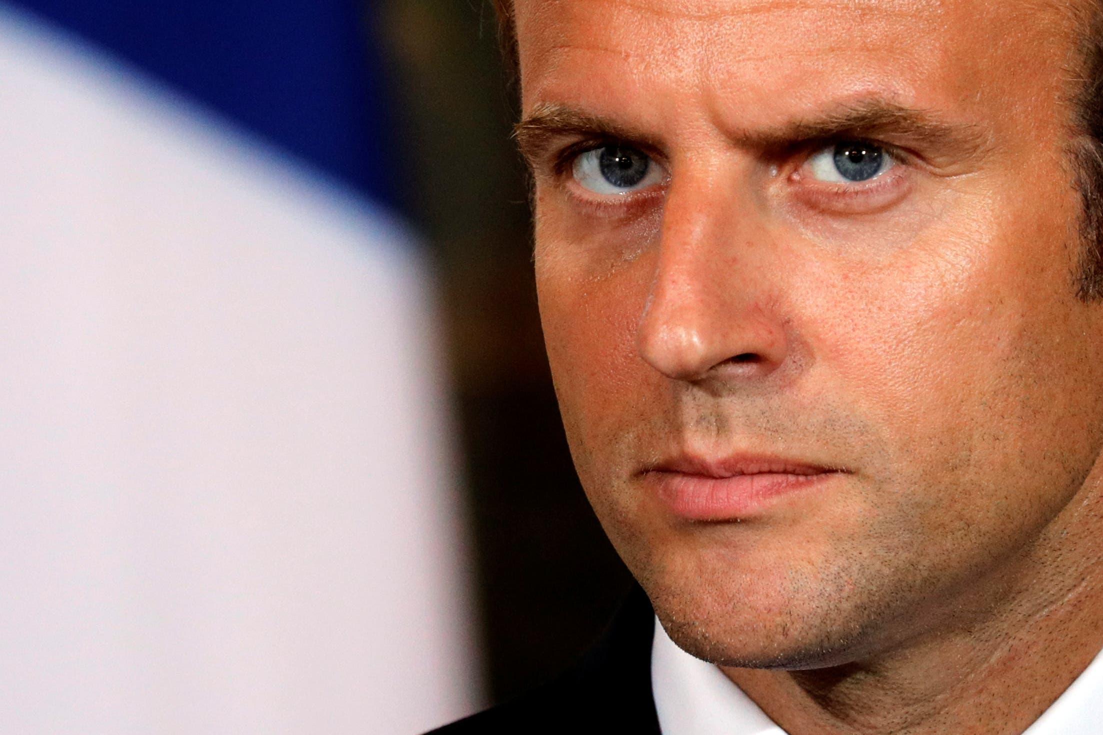 الرئيس الفرنسي يشجب