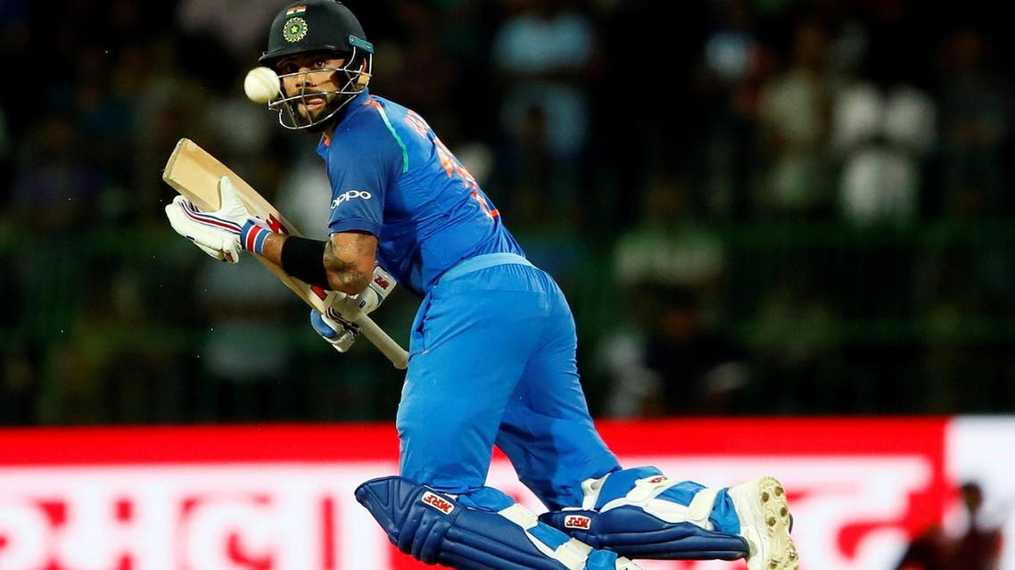 India's team captain Virat Kohli plays a shot against Sri Lanka in the fifth One Day International match in Colombo on Sept 3, 2017. (Reuters)