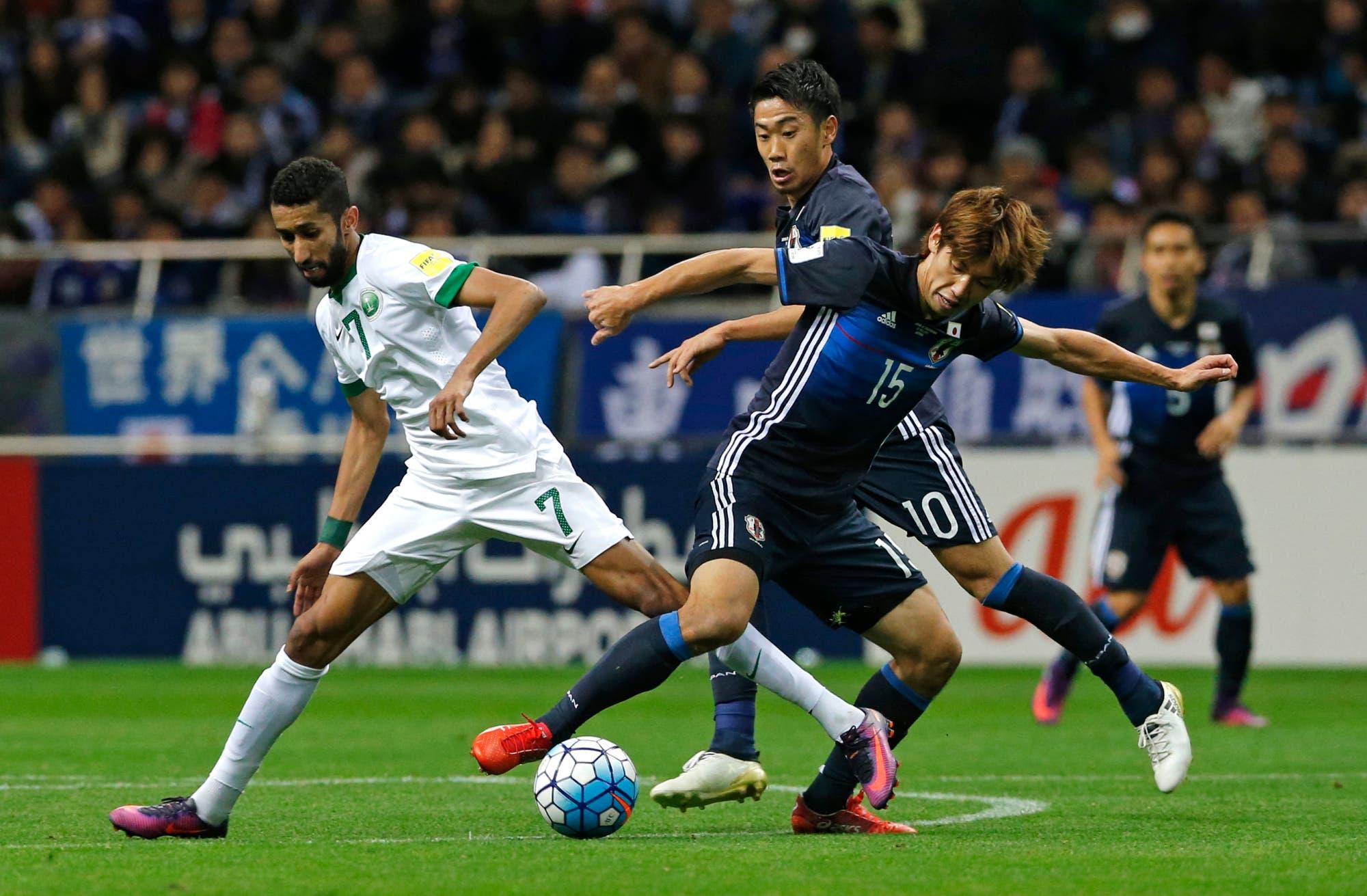 سلمان الفرج في مباراة سابقة بين السعودية واليابان
