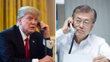 ترمب يهاتف مون ويبحثان العلاقات مع بيونغ يانغ