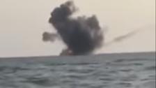 Yemeni army destroys Houthi boat off Midi coast