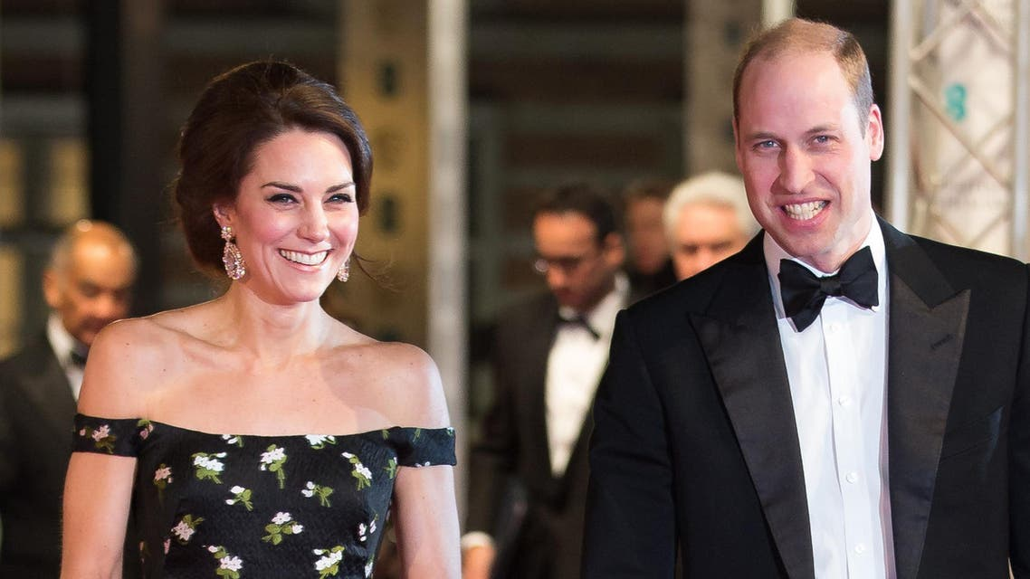 This file photo taken on February 12, 2017 shows Britain's Prince William, Duke of Cambridge (R) and Britain's Catherine, Duchess of Cambridge attending the BAFTA British Academy Film Awards at the Royal Albert Hall in London. afp
