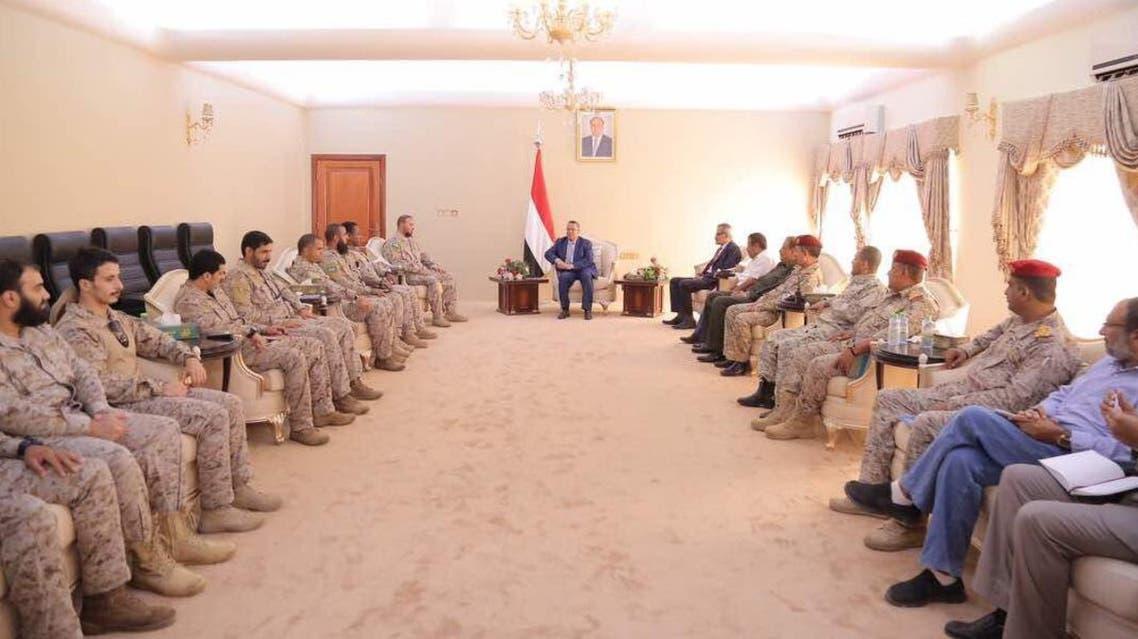 بن دغر يلتقي قائد القوات السعودية في التحالف