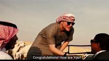 """""""أبو متعب الأميركي"""" يحتفل بالعيد على الطريقة السعودية"""