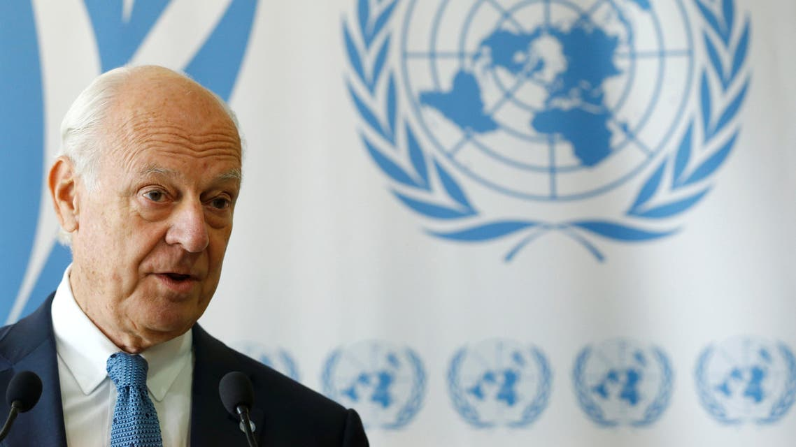 United Nations Special Envoy for Syria Staffan de Mistura attends a news conference at the United Nations office in Geneva, Switzerland, September 6, 2017. REUTERS/Denis Balibouse