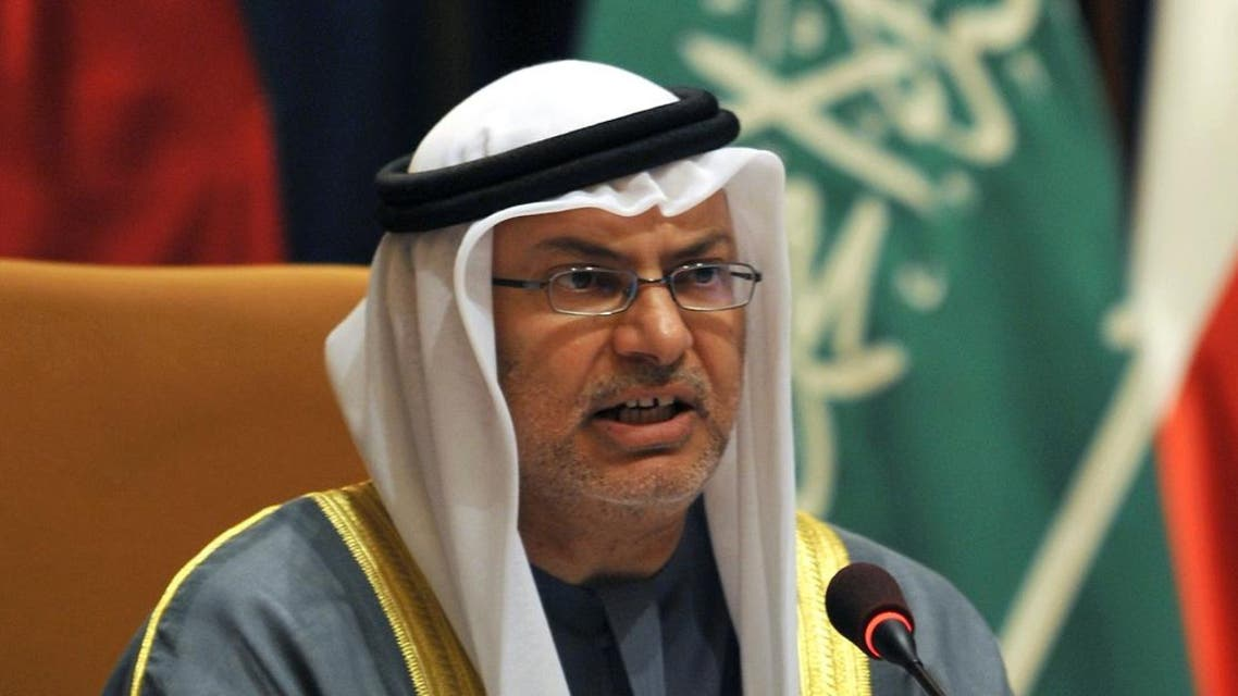 Emirati Minister of State for Foreign Affairs Anwar Mohammed Gargash addresses the 'The Gulf and The Globe' security forum in Riyadh on December 4, 2011. (File photo: AFP)