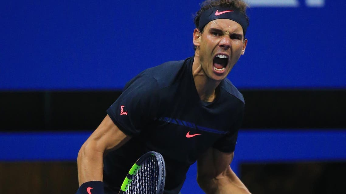 Rafael Nadal of Spain celebrates after defeating Juan Martin del Potro of Argentina in their Men's Singles Semifinal match on Day Twelve during the 2017 US Open at the USTA Billie Jean King National Tennis Center on September 8, 2017 in the Queens borough of New York City. Chris Trotman/Getty Images for USTA/AFP