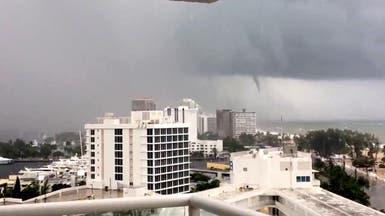 """شاهد اللحظات الأولى لدخول إعصار """"إيرما"""" مدينة فلوريدا"""