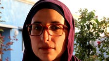 A skilled Arab woman in solidarity with societies torn by war, disease
