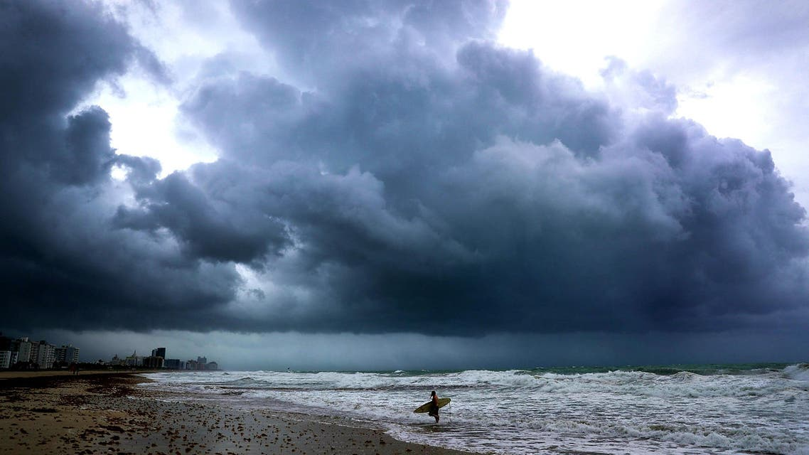 Hurricane Irma approaches on September 9, 2017 in Miami Beach, Florida. (AFP)