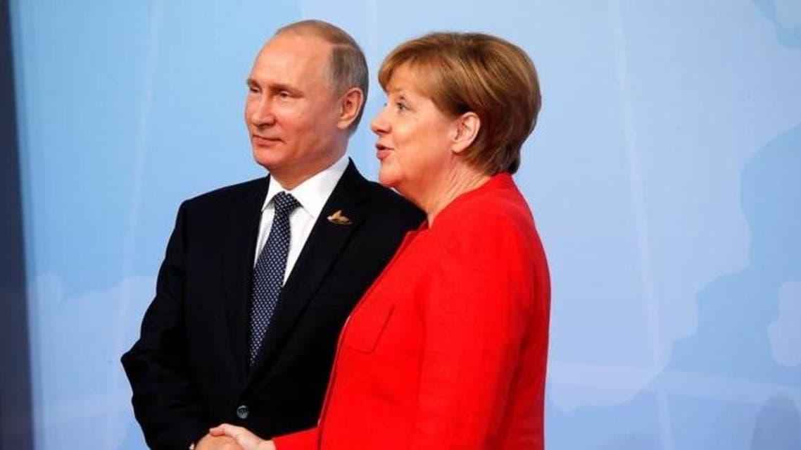 بوتين وميركل 3