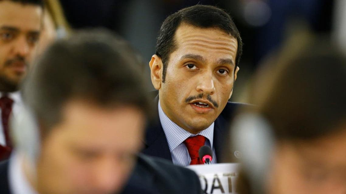 Qatar's foreign minister Sheikh Mohammed bin Abdulrahman al-Thani attends the 36th Session of the Human Rights Council at the United Nations in Geneva. (Reuters)