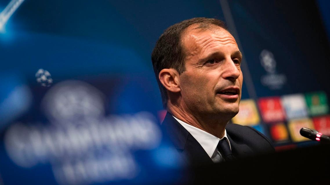 Juventus' coach Massimiliano Allegri speaks during a press conference at the Camp Nou stadium in Barcelona on September 11, 2017 on the eve of the UEFA Champions League football match FC Barcelona vs Juventus. (AFP)