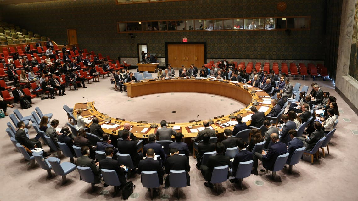The United Nations Security Council sits to meet on North Korea after their latest missile test, at the U.N. headquarters in New York City, U.S., September 4, 2017. REUTERS/Joe Penney