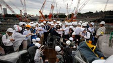 Just over two years left, intense work at Tokyo Olympic stadium site