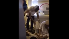 VIDEO: Passenger faints on Karachi-bound flight due to faulty air-conditioning