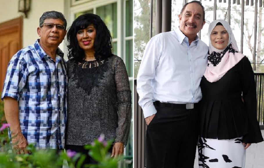 المرشحان المستبعدان، من اليمين فريد خان وزوجته نعيم أبوبكر وصالح ماريكان وزوجته صبية أبو بكر