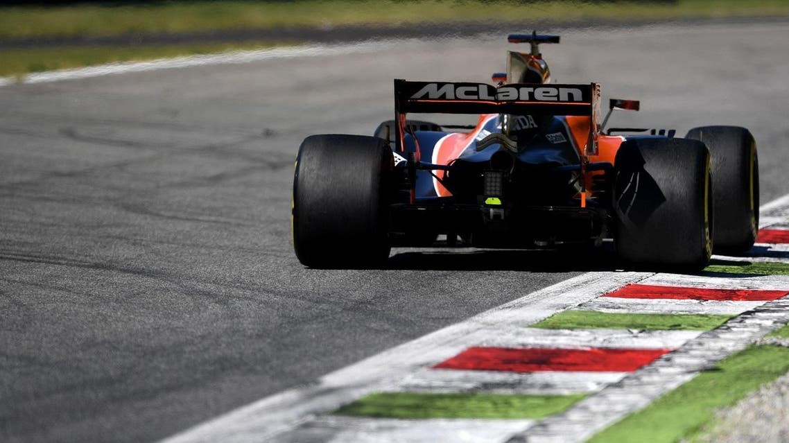 McLaren's Spanish driver Fernando Alonso drives during the Italian Formula One Grand Prix at the Autodromo Nazionale circuit in Monza on September 3, 2017. (AFP)