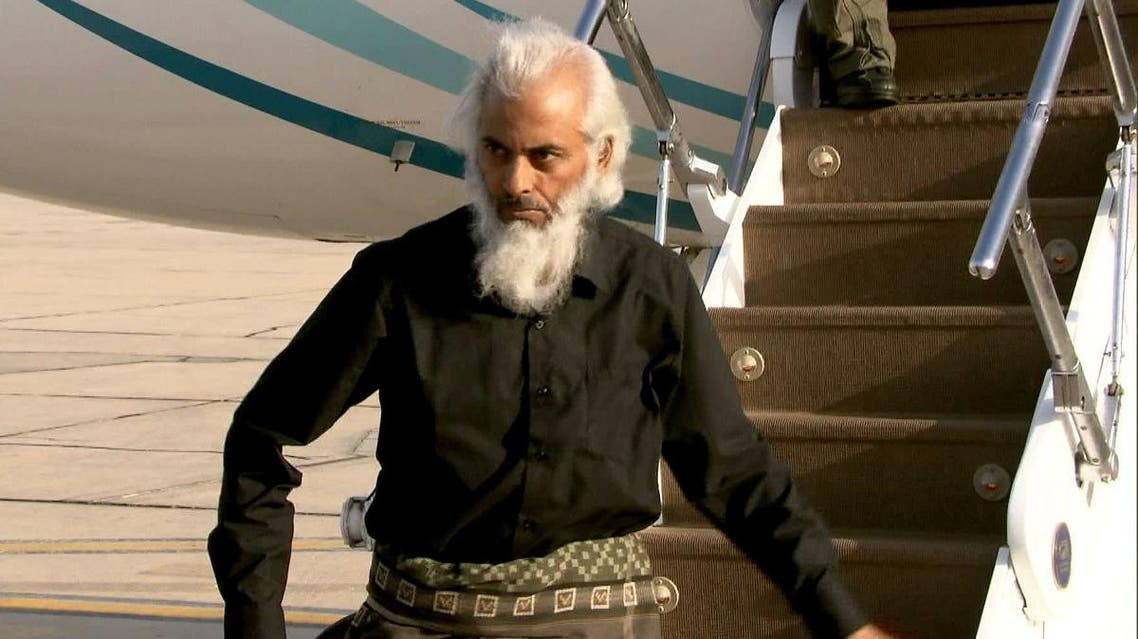 This Oman TV video grab obtained on September 12, 2017, shows Thomas Uzhunnalil, an Indian priest who was abducted last year during a deadly attack by Islamist militants in Yemen. (AFP)