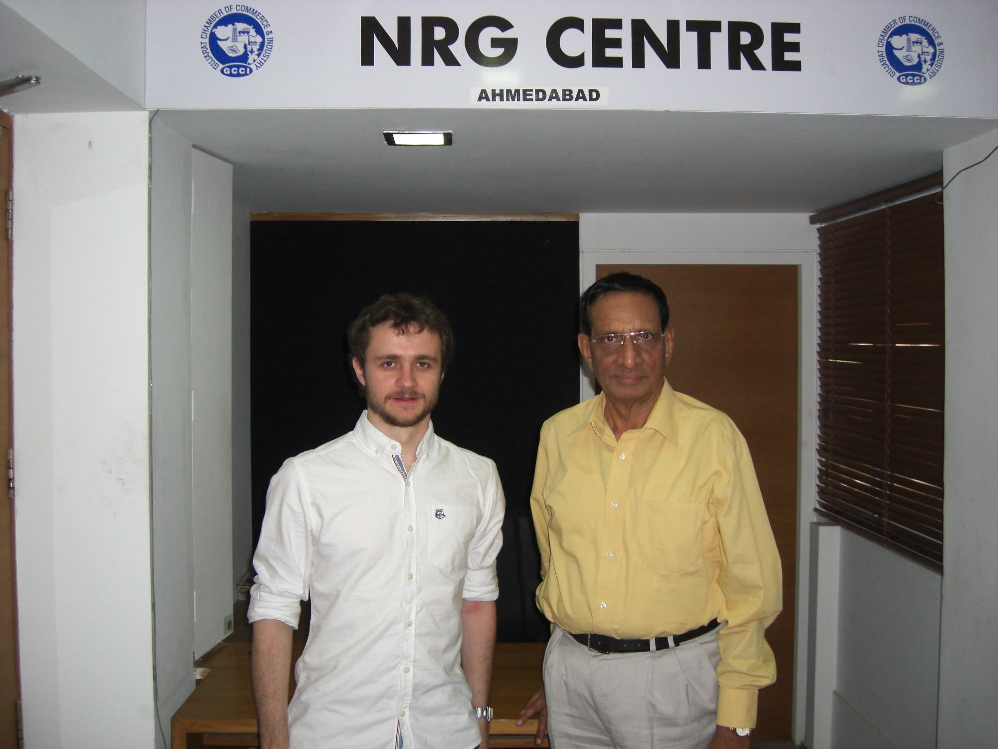 Former Indian diplomat K H Patel with UK's researcher-student Graeme Tolley. (Supplied)