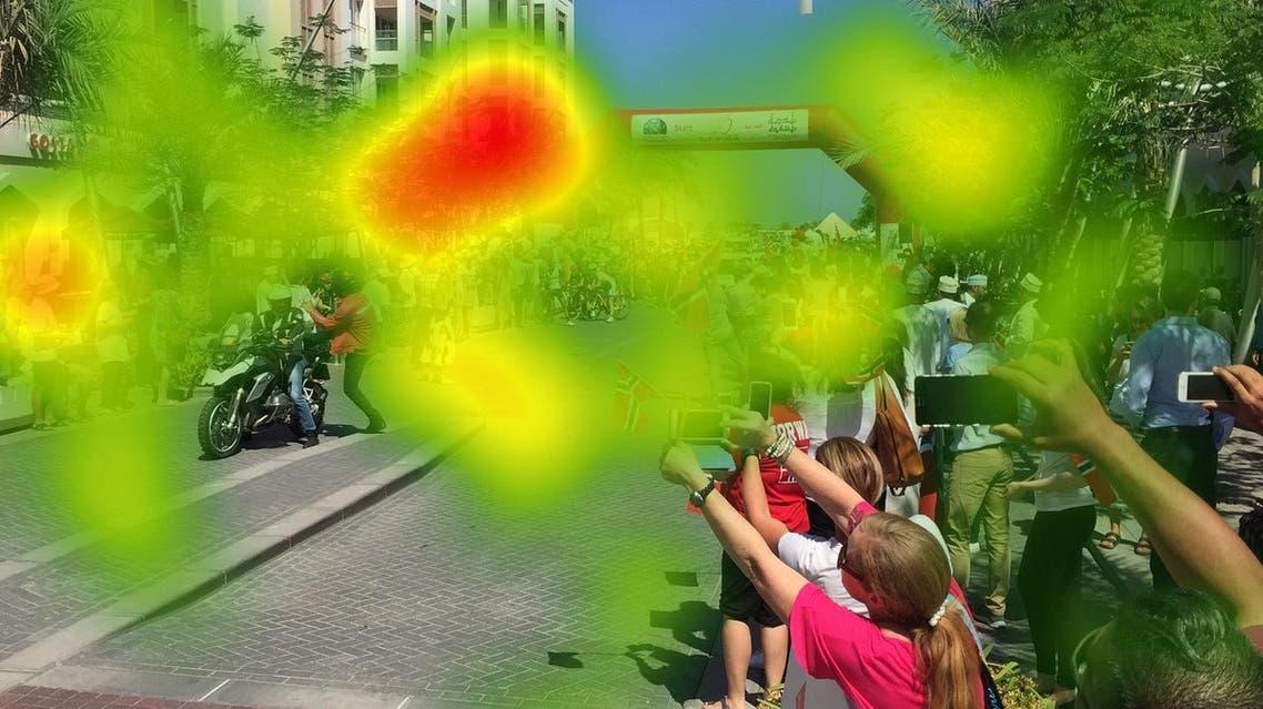 Majid Al Futtaim neuroscience study - heatmap human activity. (Supplied)
