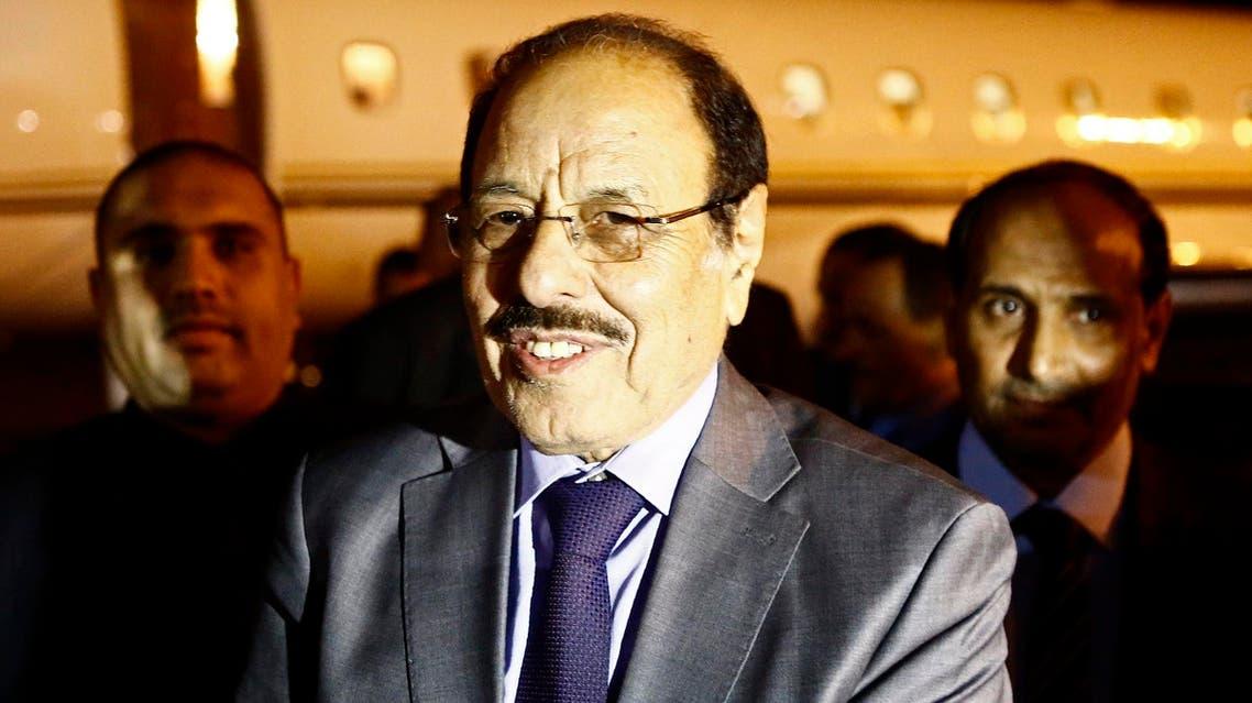 Yemeni Vice President General Ali Mohsen al-Ahmar arrives at Khartoum airport on November 13, 2016. (AFP)