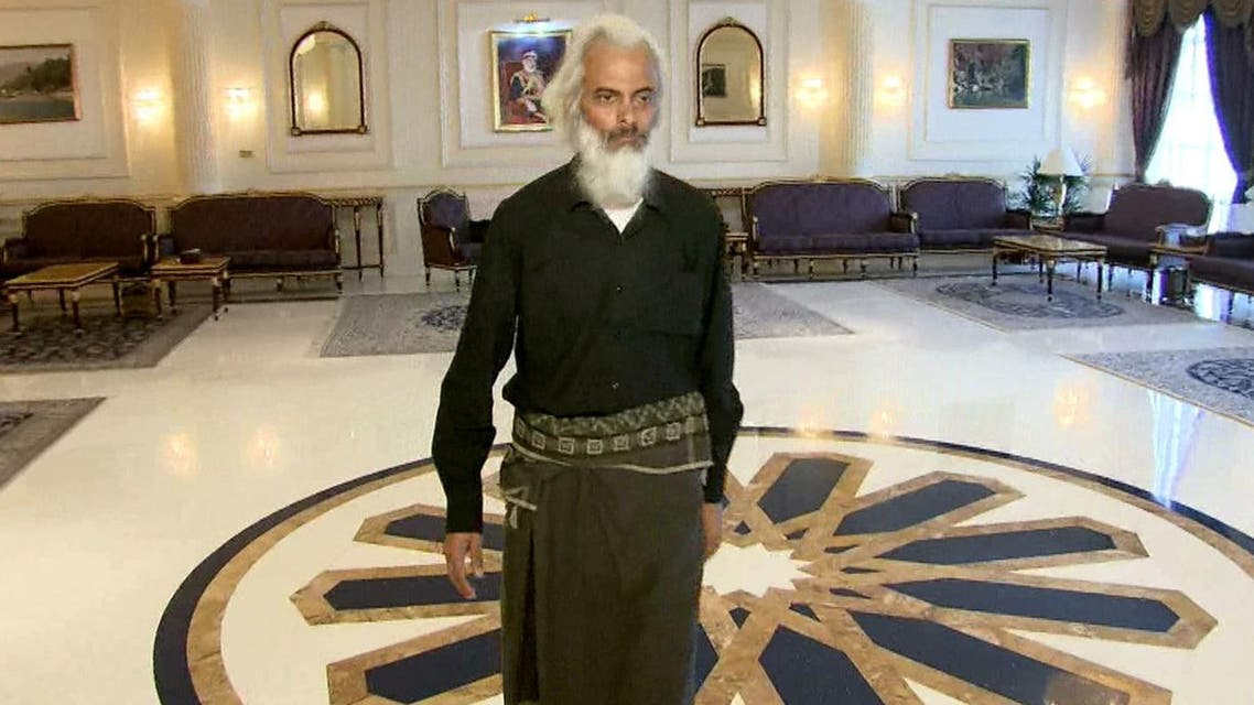 This Oman TV video grab obtained on September 12, 2017, shows Thomas Uzhunnalil, following his release in the Omani capital Muscat. (AFP)