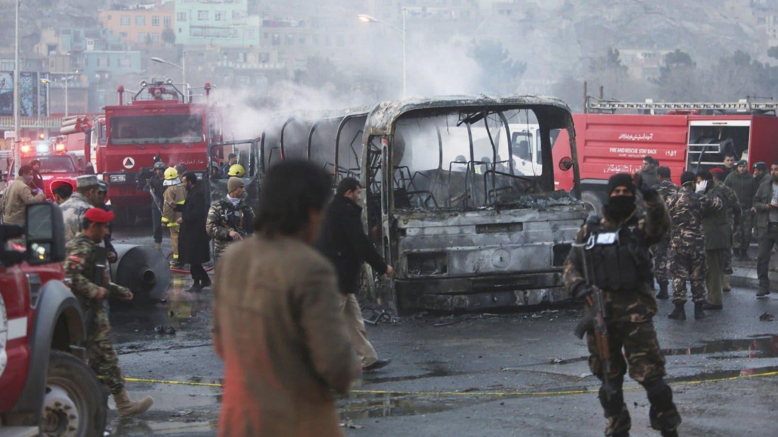 تفجير إرهابي في العاصمة الأفغانية كابول تبنته حركة طالبان