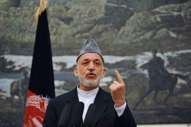 الرئيس الأفغاني السابق حميد كرزاي