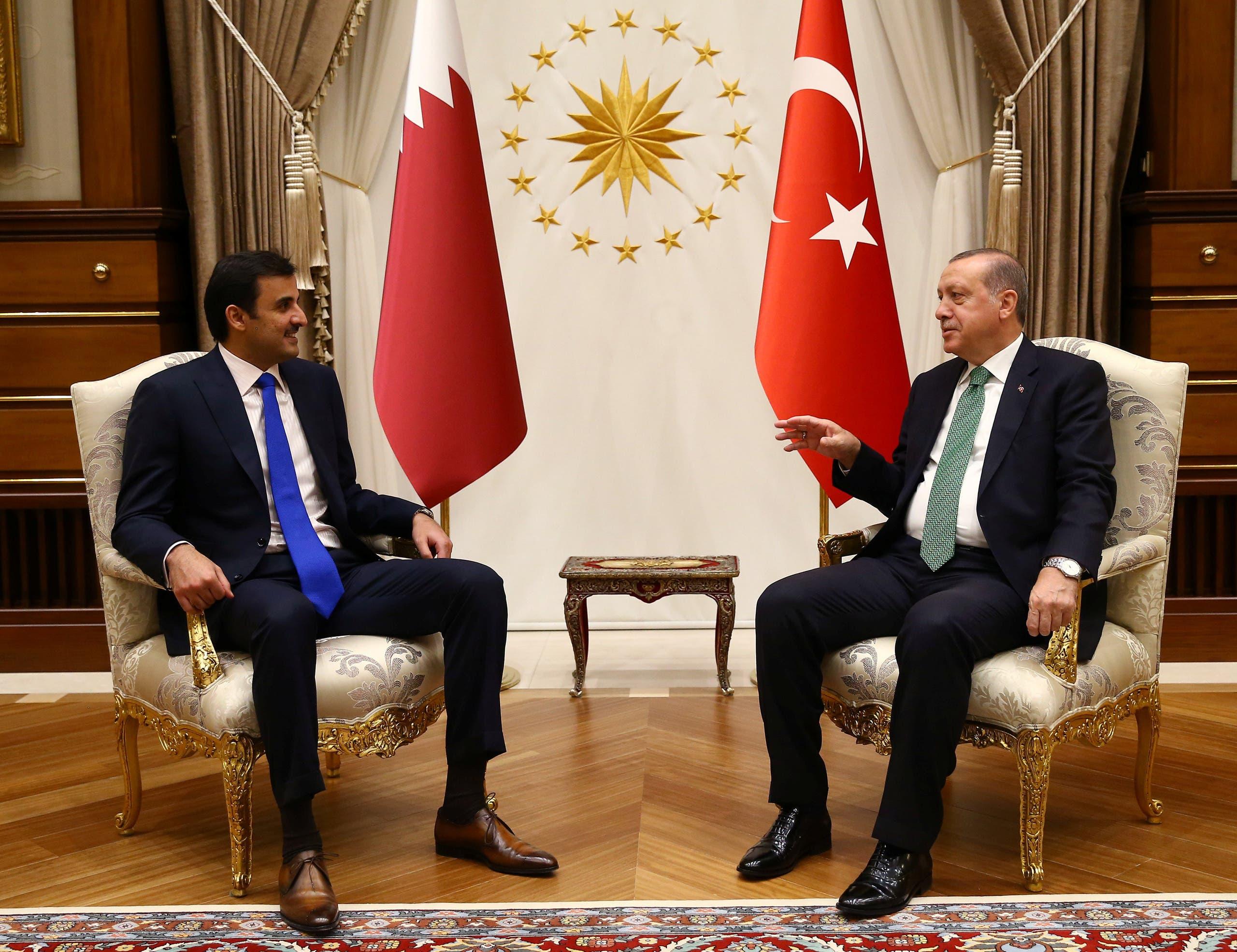أمير قطروالرئيس التركي في أنقرة - أرشيفية
