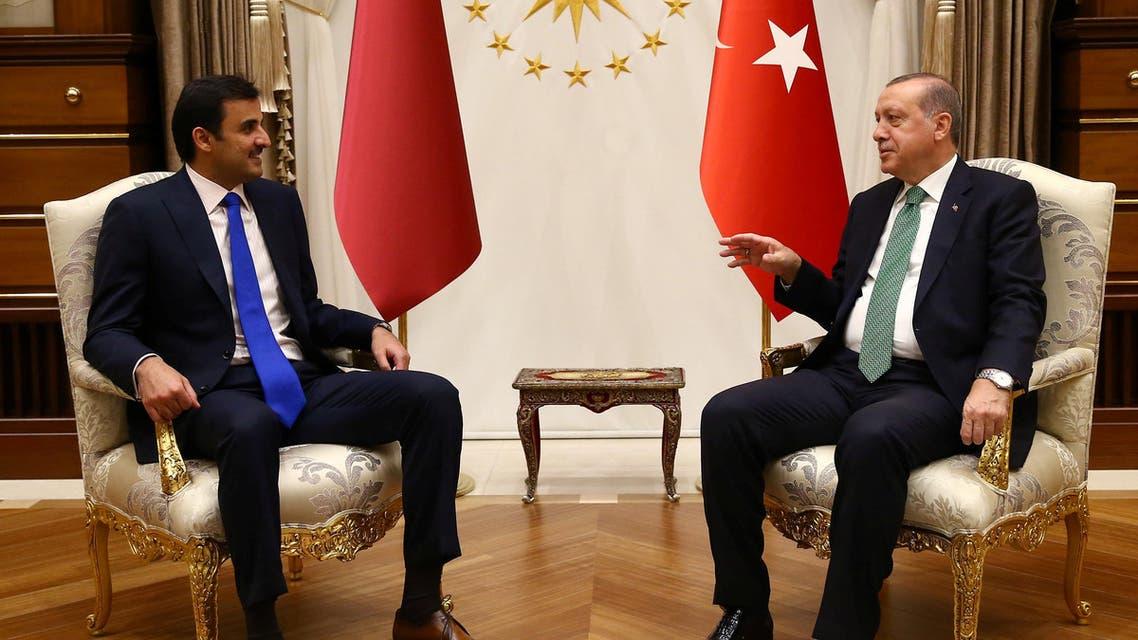 أمير قطر أردوغان في القصر الرئاسي في أنقرة
