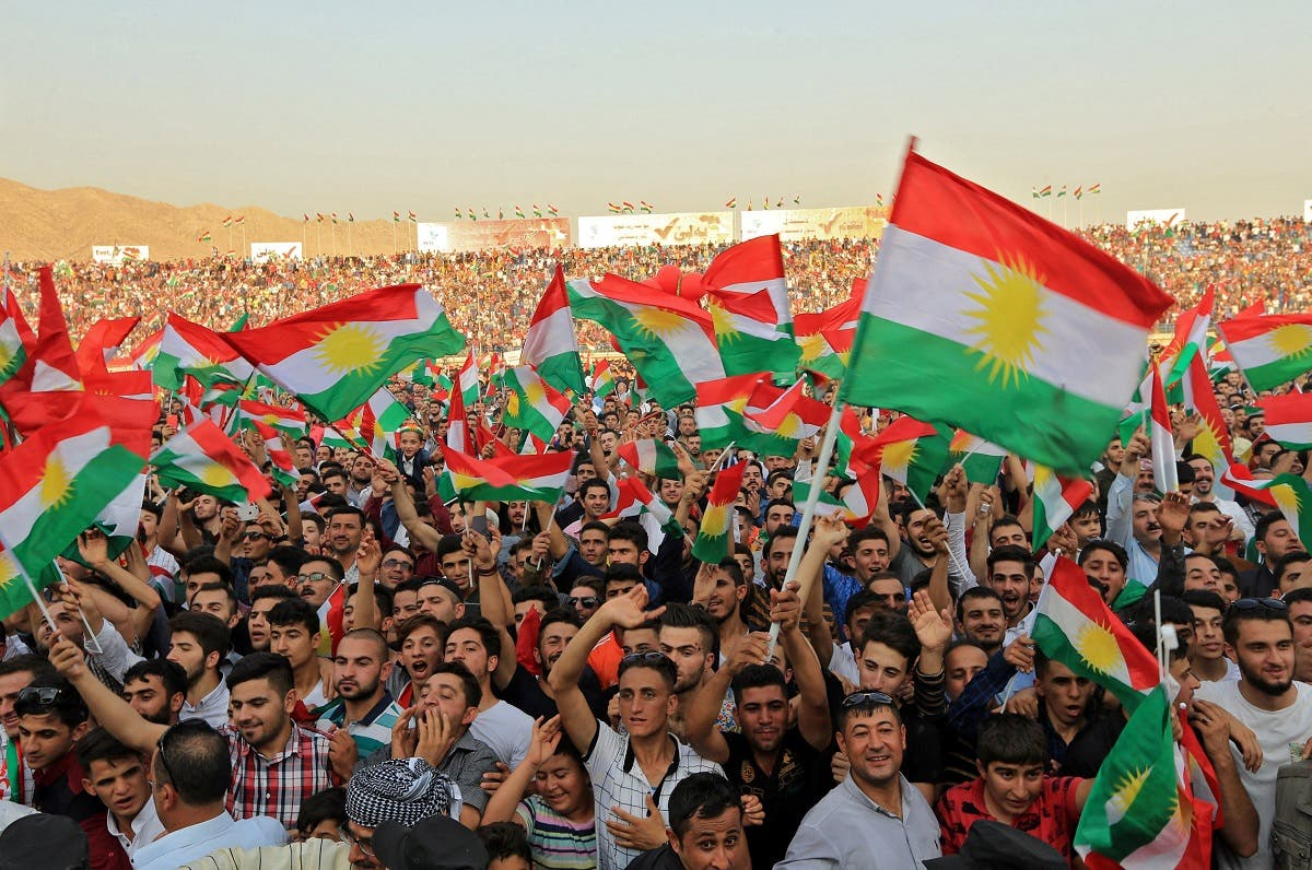 Kurdish people attend a rally to show their support for the upcoming September 25th independence referendum in Duhuk, Iraq. (Reuters)