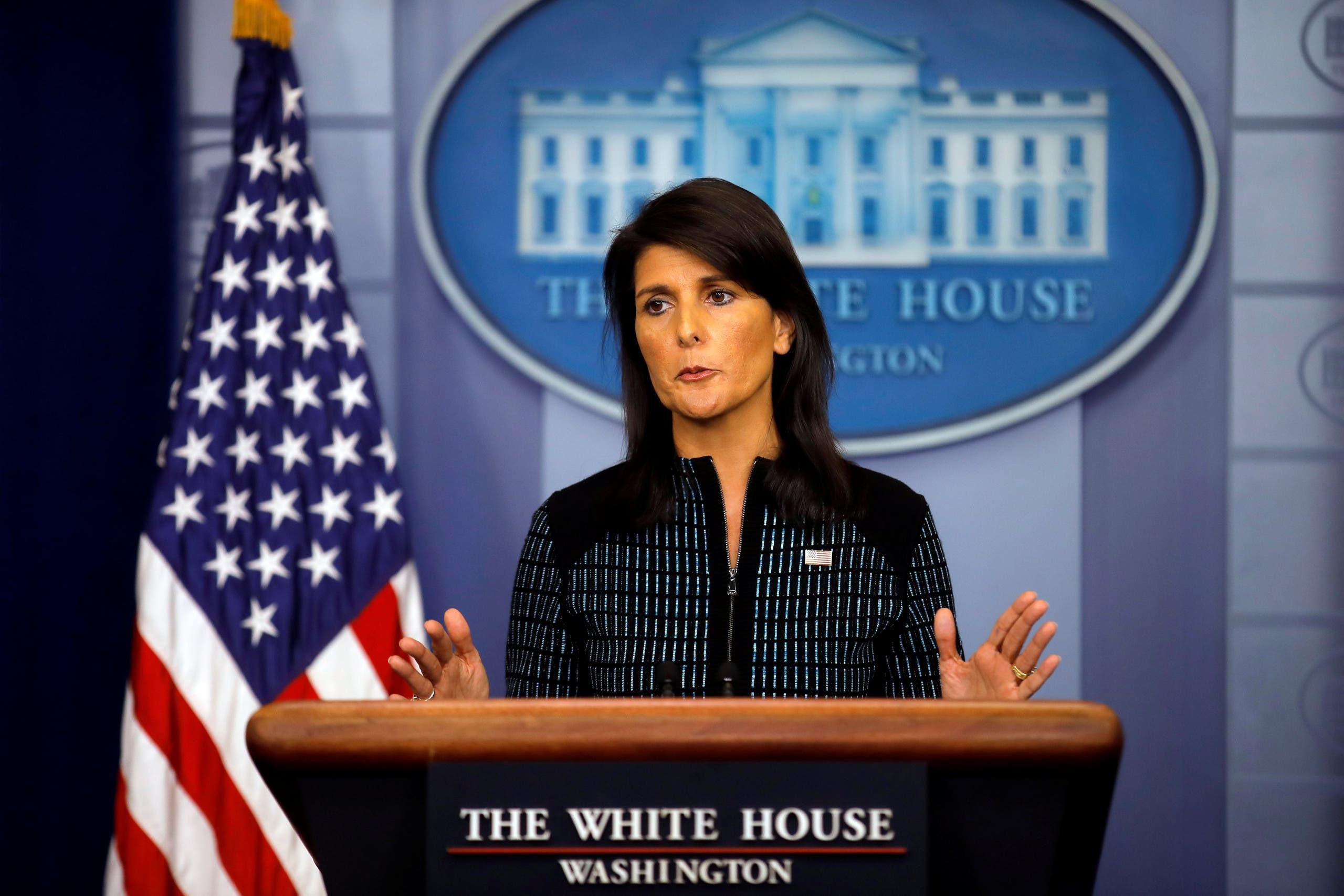 سفيرة أميركا في الأمم المتحدة نيكي هيلي