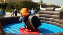 فيديو.. جامعة مصرية تستقبل طلابها بملاهٍ وألعاب ترفيهية