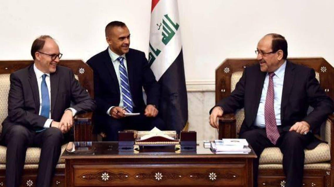المالكي والسفير الامريكي في العراق