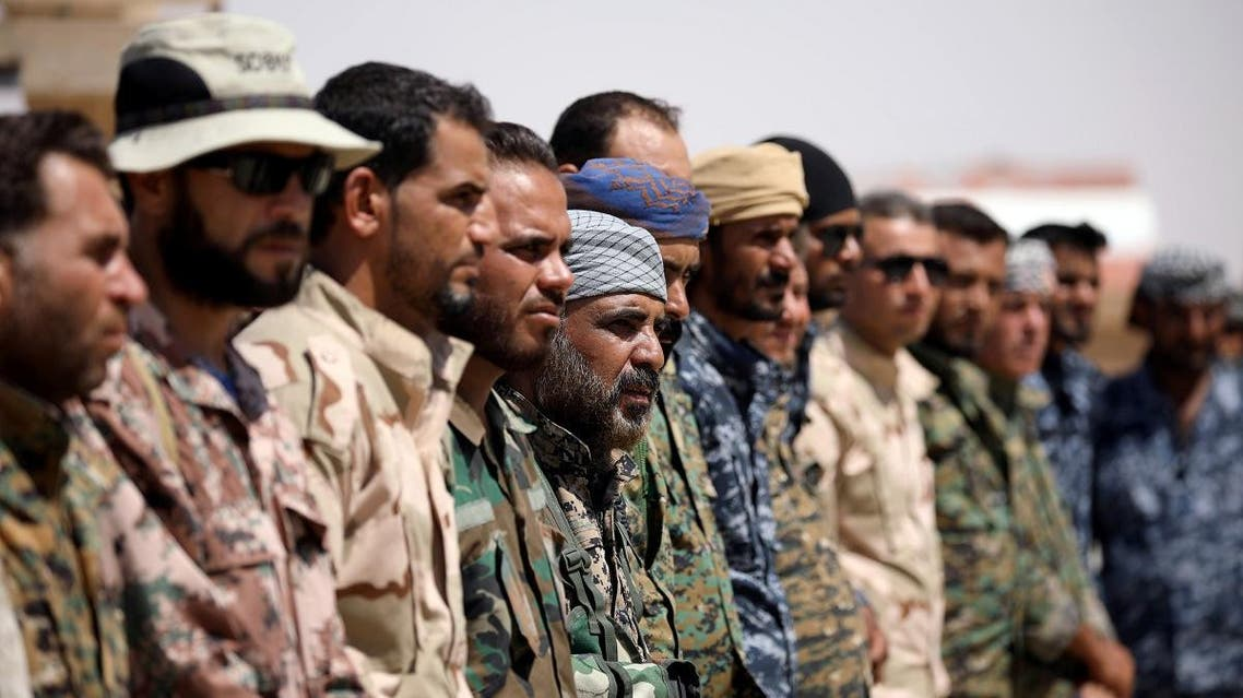 Members of Deir al-Zor military council which fights under the Syrian Democratic Forces (SDF) stand together in Deir al-Zor province, Syria August 25, 2017. (File photo: Reuters)