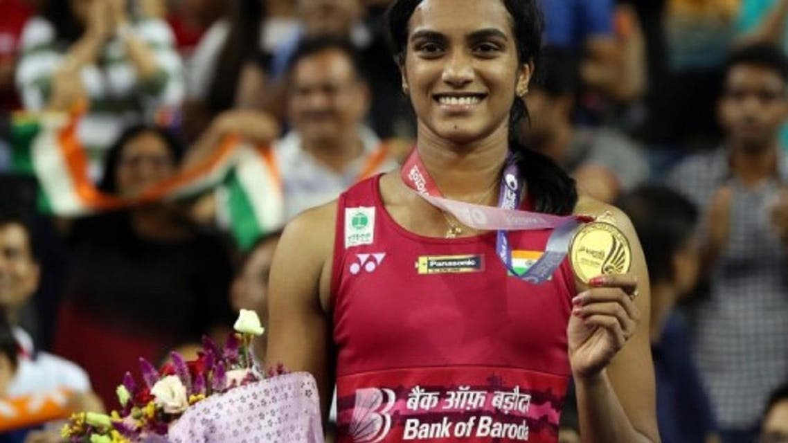 PV Sindhu after winning the Korea Open Super Series.