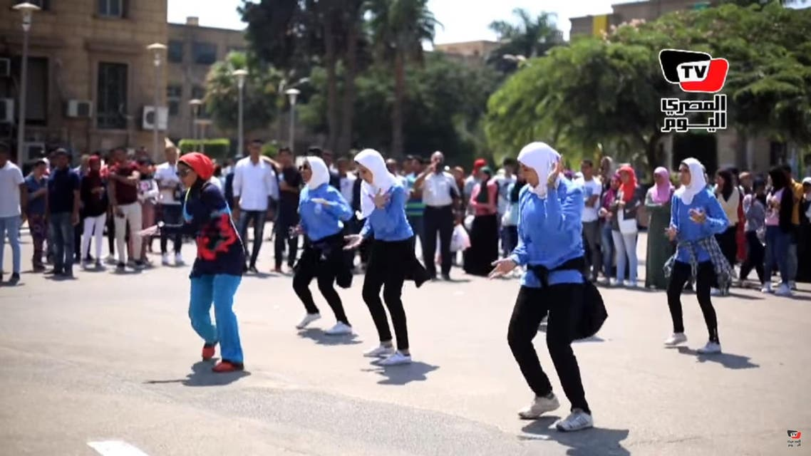 Cairo university students performing Zumba dance for minister draws criticism