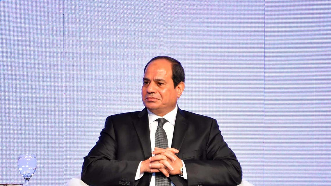 Egyptian President Abdel Fattah al-Sisi looks on during the opening of the 2017 AFI Global Policy Forum in the Red Sea resort of Sharm el-Sheikh, Egypt September 14, 2017. (Reuters)