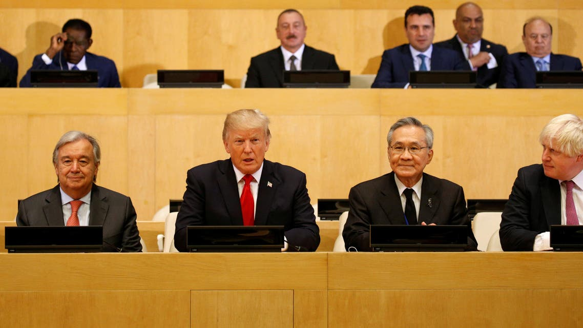 U.S. President Donald Trump participates in a session on reforming the United Nations at U.N. Headquarters in New York, US, September 18, 2017. (Reuters)