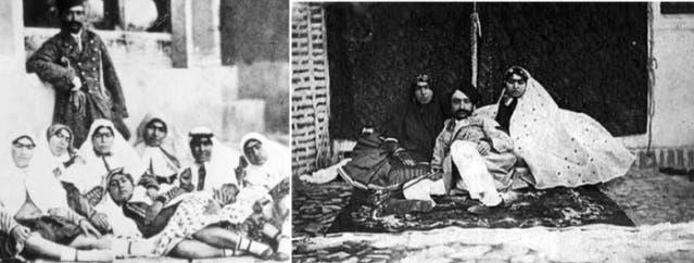 ناصر الدين شاه وعدد من زوجاته