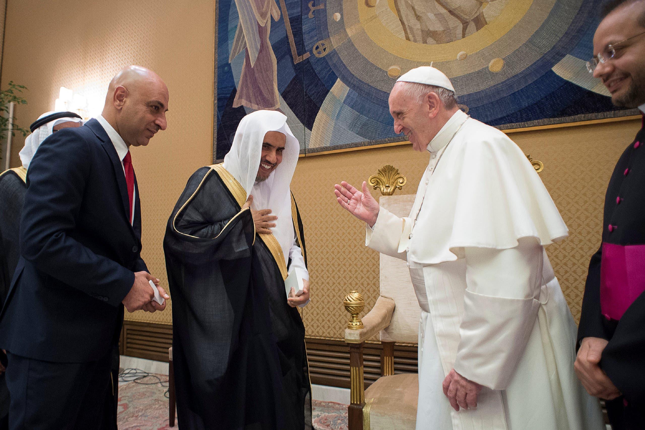 Image result for Muhammad bin Abdul Karim Al-Issa pope francis