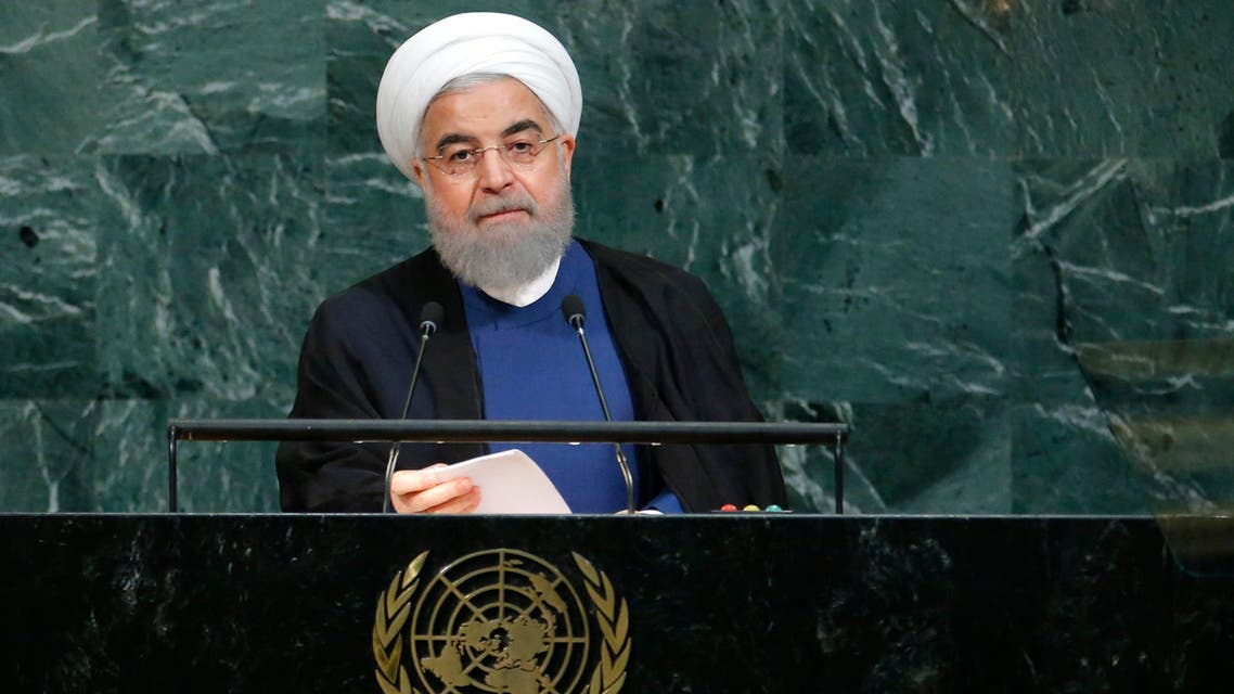 Iranian President Hassan Rouhani addresses the 72nd United Nations General Assembly at U.N. headquarters in New York, U.S., September 20, 2017. REUTERS/Eduardo Munoz