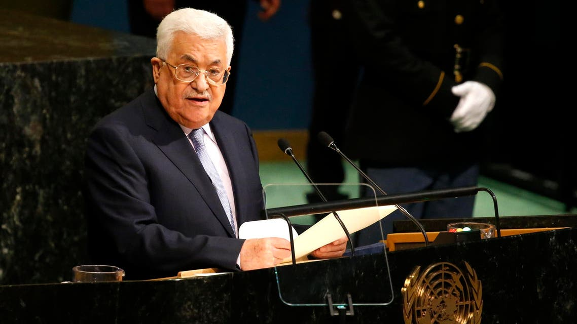 Palestinian President Mahmoud Abbas addresses the 72nd United Nations General Assembly at U.N. headquarters in New York, U.S., September 20, 2017. REUTERS/Shannon Stapleton