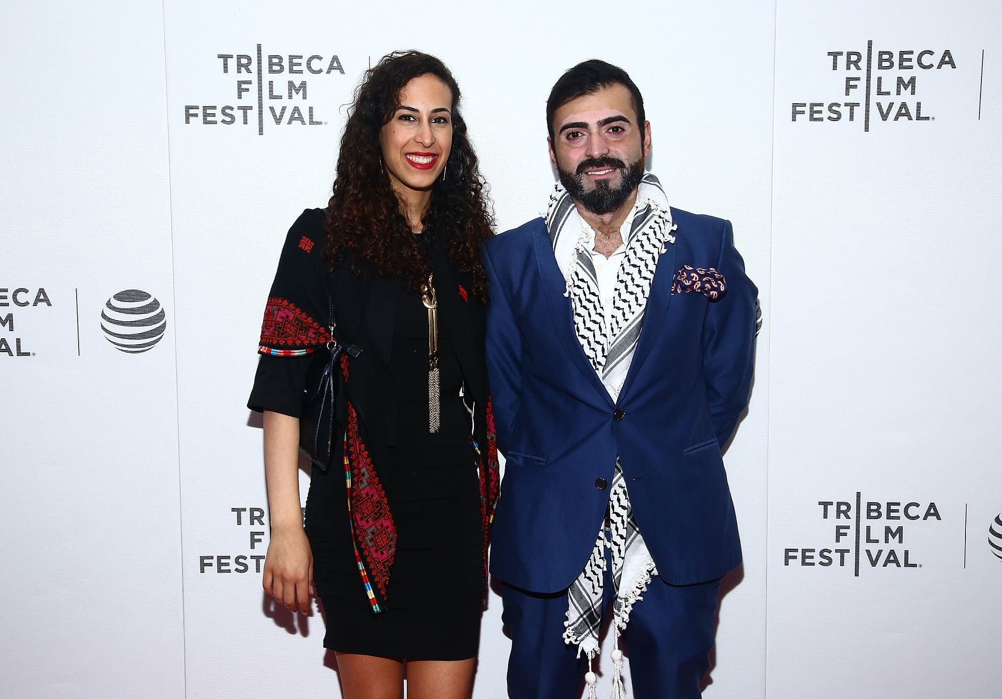 "(L-R) Producers Atheer Yacoub and Nas Jab attend ""Children of the Mountain"" Premiere - 2016 Tribeca Film Festival at Regal Battery Park Cinemas on April 17, 2016 in New York City. (AFP)"