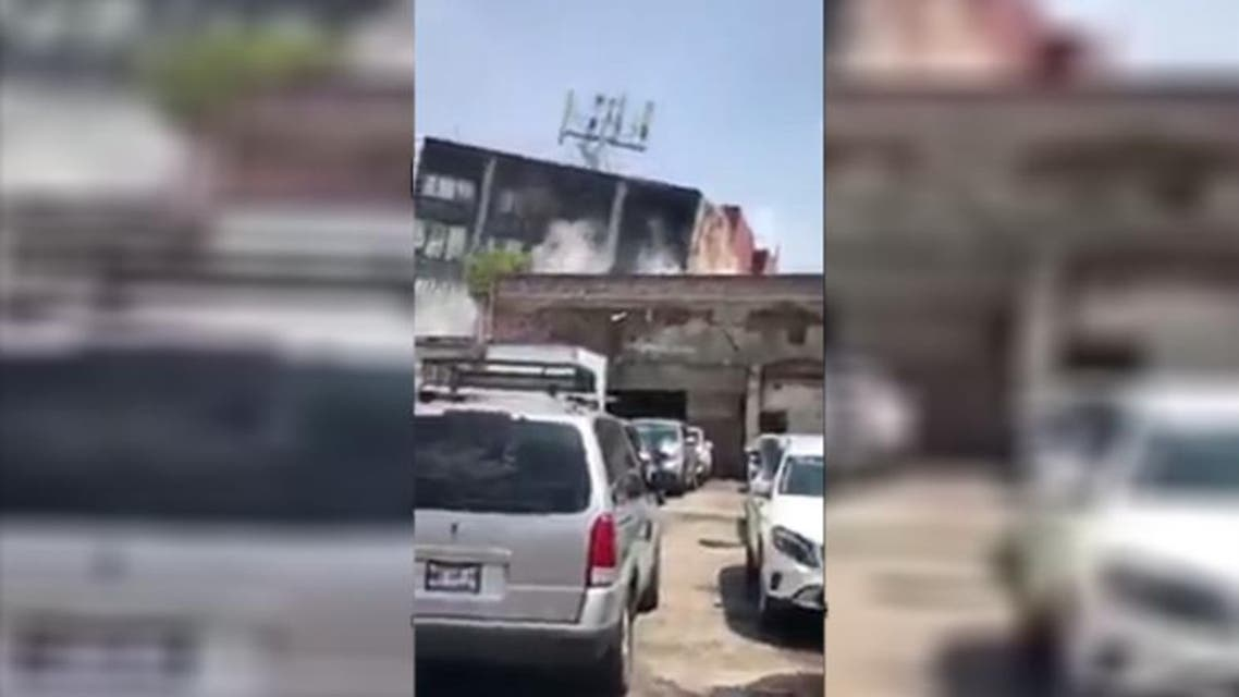 Shocking video footage shows the moment a building collapses in Mexico City after a 7.1 quake struck. (YouTube)