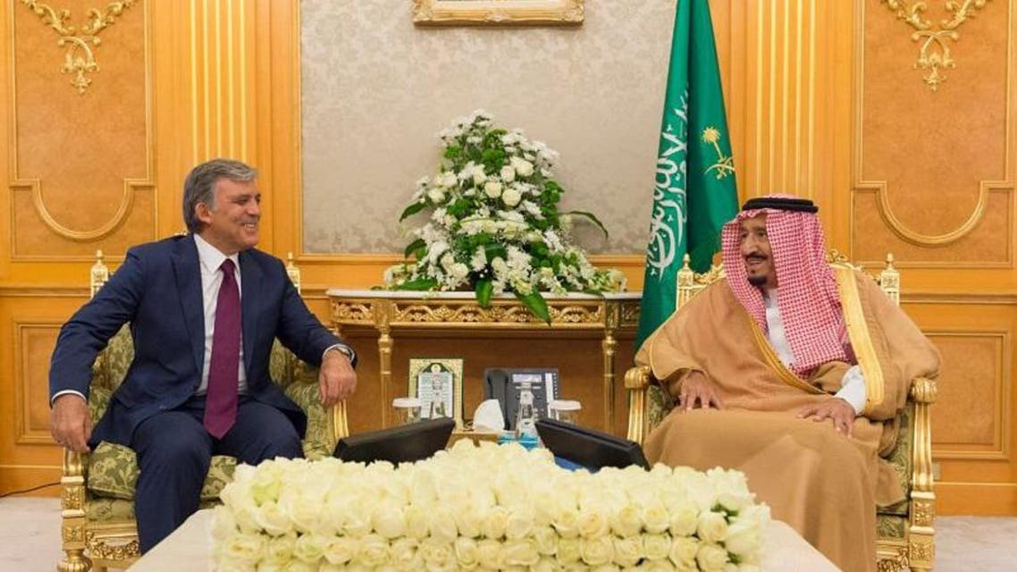 King Salman bin Abdulaziz al-Saud received in Jeddah on Thursday the former President of Turkey Abdullah Gul