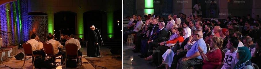 الشيخ ايهاب يغني وينشد في دار الأوبرا المصرية