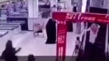 WATCH: Boy clutched from jaws of death at mall