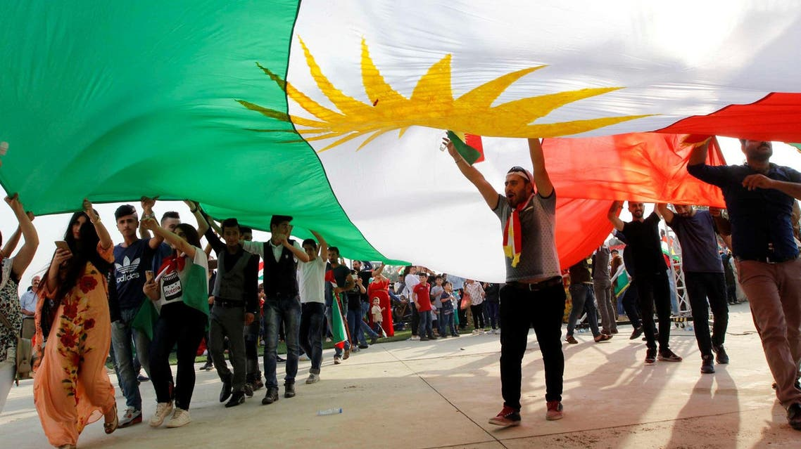 Kurds celebrate to show their support for the upcoming September 25th independence referendum in Sulaimania, Iraq, on September 20, 2017. (Reuters)